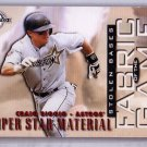 Craig Biggio 1997 Donruss Limited Fabric of the Game #58 Astros HOF #/500