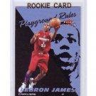 LeBron James RC 2003-04 Fleer Tradition Playground Rules #1 PR Miami Heat, Cavs