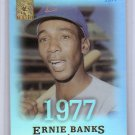 Ernie Banks 2004 Topps Tribute Hall of Fame Cut Signature Edition #75 Cubs