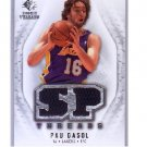 Pau Gasol 2008-09 SP Rookie Threads Authentic Dual Threads #T-PG Lakers, Bulls