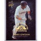 Tony Gwynn 1998 Leaf Fractal Foundation #166 Padres HOF #/3999