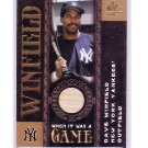 Dave Winfield  2007 SP Legendary Cuts When it was a Game Authentic Game-Used Bat #WG-DW Yankees HOF