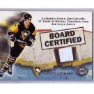 Mario Lemieux 2001-02 Fleer Greats of the Game Board Certified Stadium Piece #MA-LE Penguins HOF