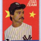 Don Mattingly 1986 Fleer All Star Team #1 Yankees