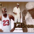 LeBron James 2006-07 UD Reserve The Lebrons Gold #LBJ-9 Miami Heat, Cavs