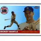 Mickey Mantle 2006 Topps Chrome Mickey Mantle Home Run History Refractor #MHRC500 Yankees #/400