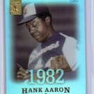 Hank Aaron  2004 Topps Tribute Hall of Fame Cut Signature Edition #44 Braves
