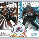 Patrick Roy 1997-98 Pacific Dynagon Tandems #25 Forsberg, Lemieux Avalanche