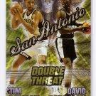Tim Duncan RC 1997 Press Pass Double Threat #1 w/David Robinson Spurs