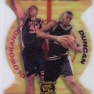 Tim Duncan RC 1998 Press Pass Double Threat Two On One Die-cut #TO-5 Spurs