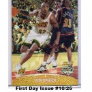 Vin Baker #/25 Refractor 1999-00 Topps Stadium Club Chrome Refractor 1st Day Issue #77 Bucks, Sonics