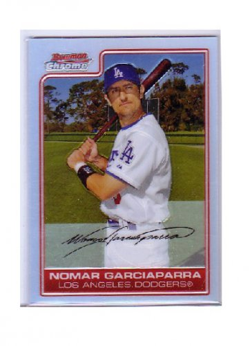 Nomar Garciaparra 2006 Bowman Chrome Refractor #82 Dodgers, Red Sox, Cubs