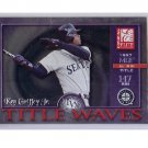 Ken Griffey Jr. 2001 Donruss Elite Title Waves #TW-17  Mariners, Reds #/1997