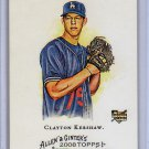 Clayton Kershaw RC 2008 Topps Allen & Ginter's #72 Dodgers
