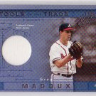 Greg Maddux 2001 Playoff Absolute Memorabilia Tools of the Trade #TT-13 Braves HOF #/300