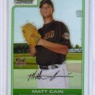 Matt Cain RC 2006 Bowman Chrome Refractor #208 Giants