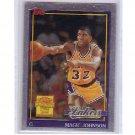 Magic Johnson 2000-01 Topps Chrome Magic Johnson Commemorative Insert #MJ9  Lakers