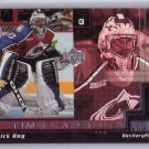 Patrick Roy 1999-00 UD Power Deck Time Capsule #AUX-TC3 Canadiens Avalanche