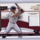 Jorge Posada 2003 Playoff Piece of the Game #POG-50 Authentic Game-Jersey w/stripe Yankees