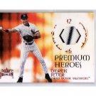 Derek Jeter 2001 Fleer Premium Premium Heroes Jerseys #DEJE w/pinstripe  Yankees