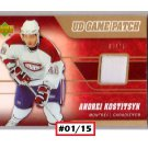 Andrei Kostitsyn #01/15 2006-07 UD Game Patch #J-KS Canadiens, Predators #/15