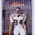 Randy Moss 2000 Playoff Prestige Team Checklists #CL17  Vikings Raiders Patriots