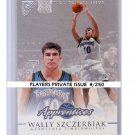 Wally Szczerbiak RC 1999-00 Topps Gallery Player's Private Issue #129 Timberwolves, Celtics #/250