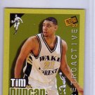 Tim Duncan RC 1997 Press Pass Double Threat Retroactive #1 Spurs