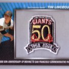 Tim Lincecum 2010 Topps Commemorative Patch #MCP-42 Giants