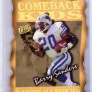 Barry Sanders 1997 Fleer Ultra Comeback Kids #2CK Lions