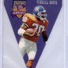 Terrell Davis HOF 1996 Playoff Pennants #48 Broncos