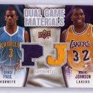 Magic Johnson Chris Paul Dual Game Materials Jersey #DG-JP Lakers Clippers