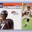 John Elway 2002 Fleer Showcase Air to the Throne #15 AT Broncos