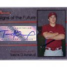 Travis D'Arnaud  Mets, Phillies 2008 Bowman Signs of the Future #SOF-TD Autographed RC
