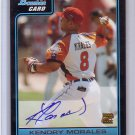 Kendry Morales 2006 Bowman Autographed RC #B120 Royals, Mariners