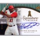 Howie Kendrick 2008 UD Premier Signature Premier Autograph #SP-HK Dodgers #/47