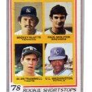 Paul Molitor RC 1978 Topps Rookie Shortstops #707 RC Brewers HOF