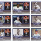 Dodgers 2006 Fleer Greats of the Game Dodgers Greats Complete Set 1-10