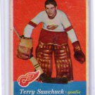 Terry Sawchuk 1957-58 Topps #35 Error $250 BV Red Wings