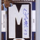 Wes Matthews 2009 Panini Season Update Threads Update Rookie Class Letter Patch Signatures #138 Jazz