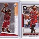 Michael Jordan & Derrick Rose 2 card lot Bulls