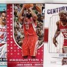 James Harden, Clyde Drexler & Hakeem Olajuwon 3 card Rockets Superstar lot