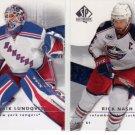 Henrik Lundqvist Rick Nash 2 Card Rangers Lot