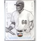 Yasiel Puig #1/1 2013 Super Box Rookies and Phenoms Original Sketch Card Dodgers