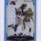 Calvin Johnson Refractor 2014 Topps Chrome Blue Wave Refractor #98 Lions