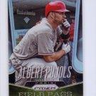 Albert Pujols 2015 Panini Prizm Field Pass Prizms #2 Cardinals, Angels