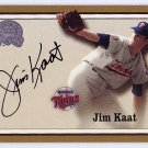 Jim Kaat 2000 Fleer Greats Of The Game Autographs Twins