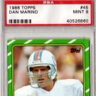 Dan Marino 1986 Topps #45 PSA 9 Dolphins Mint HOF