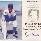 Ernie Banks Signed Autographed Hall of Fame Induction Card 8x10 Cubs HOF