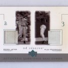 Derek Jeter & Alex Rodriguez 2001 UD Reserve Authentic Game-Used Base Combos #B-JR Yankees